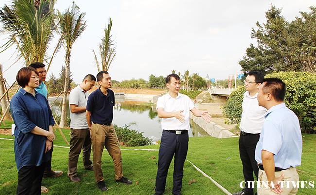 儋州市长朱洪武在滨海新区检查中央环保督查整改工作:边整边改推动项目建设 确保污水处理设施