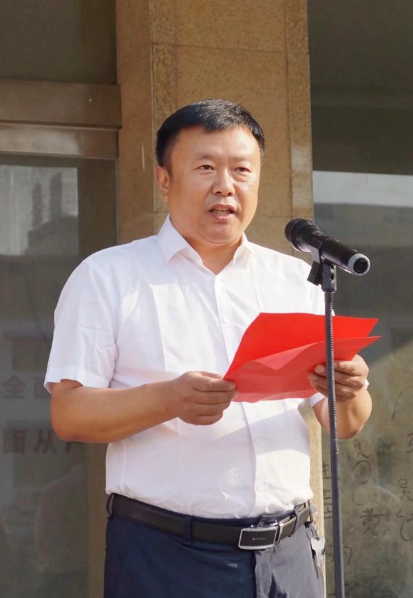"""虞城县李老家乡组织开展升国旗唱""""国歌""""活动"""