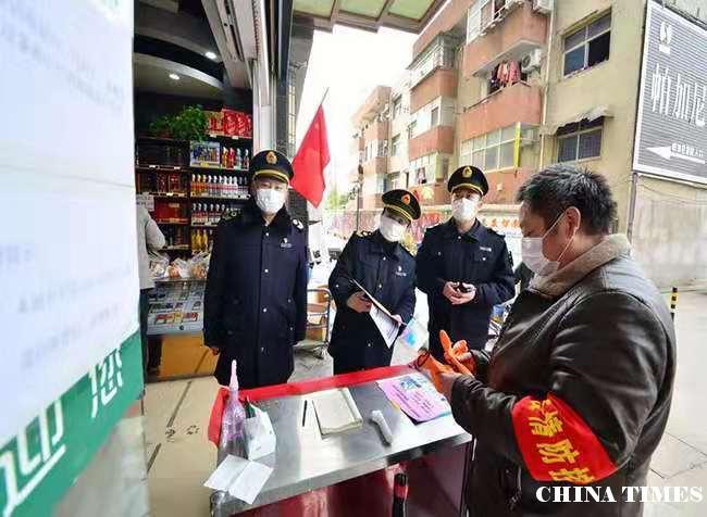 安徽阜南县严控公共场所疫情传播