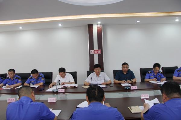 """虞城县城市管理局召开2020年""""安全生产月""""工作加压促进会"""